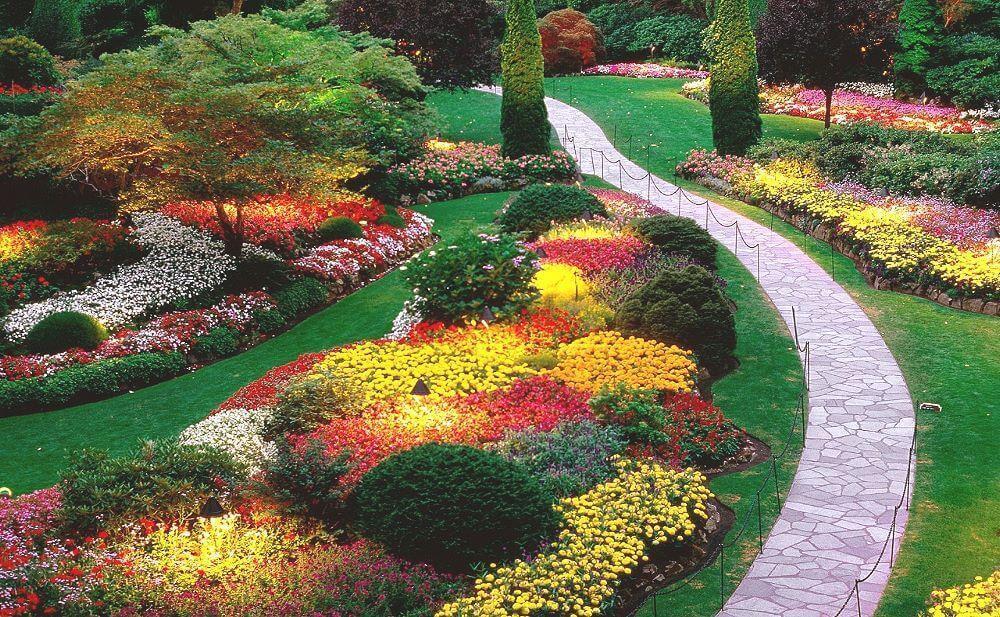 Сказочный сад с извилистой дорожкой