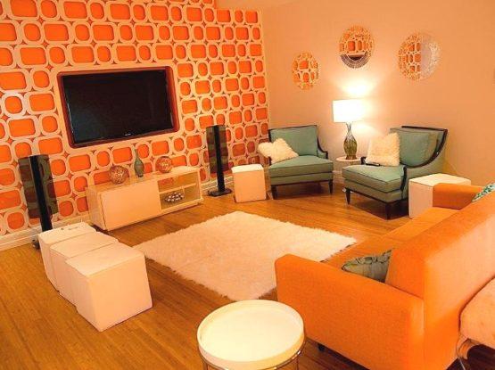Ярко оранжевая квартира
