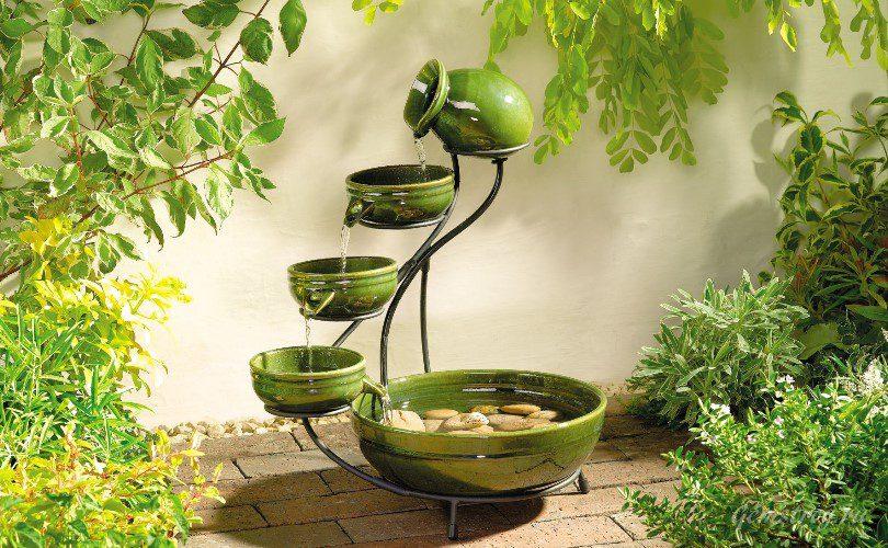 зелёный фонтан для дома